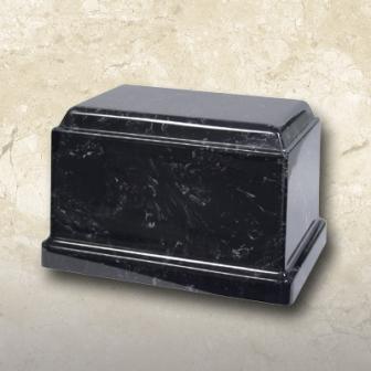 Cultured Marble Urn Black