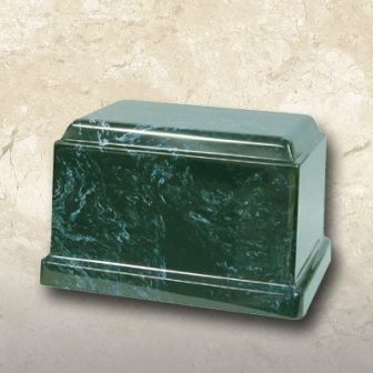 Cultured Marble Urn Green
