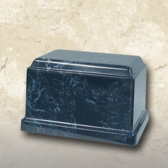 Cultured Marble Urn Navy