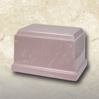 Cultured Marble Urn Pink